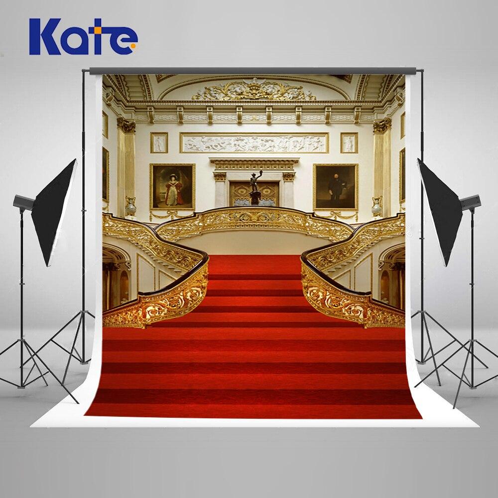5x7ft Kate Krásné červené Stage Svatební fotografie pozadí Vnitřní kulisy pro svatební fotografie Studio Studio pozadí N10228  t