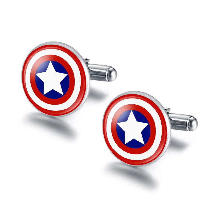 Captain America Cabochon Cufflinks