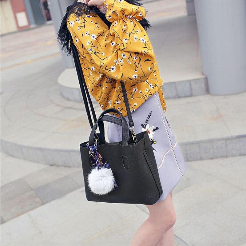 Red Designer 2 Borse white Shopping Femme Pezzi A Donne Delle Ss0298 Piccolo Casual Femminile Spalla black Tote Dell'unità Elaborazione Di Modo Composito Cuoio Bag rt1rTgwq