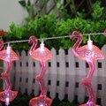 Batería Opetated Flamenco rojo LED Bombillas Luz de la Secuencia 1.65 M Home Party Decor Decoración Del Partido Led