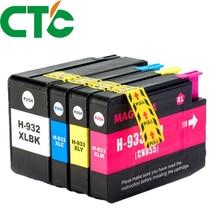 4 Pack Compatible Ink Cartridge Replacement for  932 933xl for Officejet 6100 6600 6700 7110 7610 7612 H611a  H711a  H711n смеситель для душа lemark brava с гигиеническим душем встраиваемый lm4719g