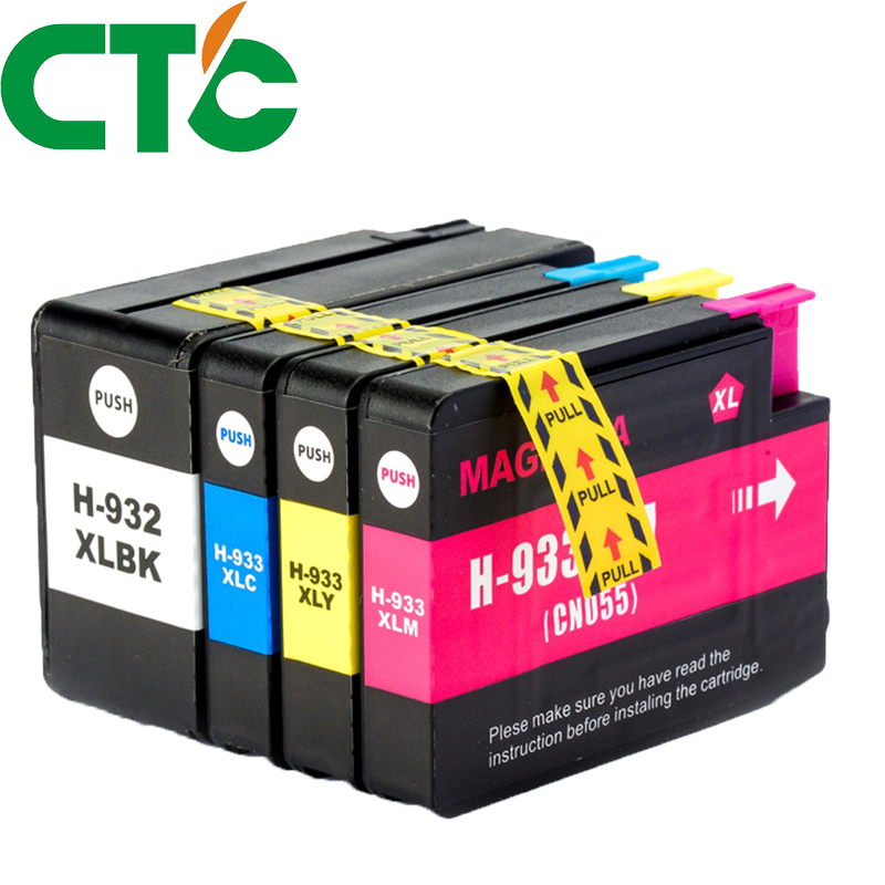 4 Pack Compatible Ink Cartridge Replacement for HP 932 933xl for HP Officejet 6100 6600 6700 7110 7610 7612 H611a H711a H711n