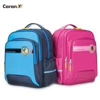 Caran Y Orthopedic Backpack Children School Backpack Waterproof PU Kids Bag School Bags For Girls Big Capacity CX2593