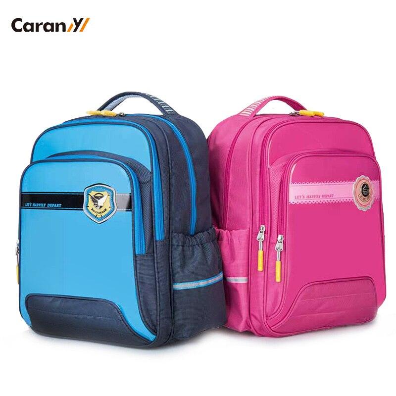 Caran-y sac à dos orthopédique enfants école sac à dos imperméable PU enfants sac sacs d'école pour les filles grande capacité CX2593