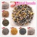 Бусины Металлические золотистые/Серебристые/бронзовые/серебристые, 3-8 мм