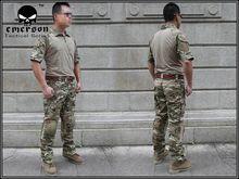 us army military uniform for men Custom Combat Shirt & Pants Set Multicam (Size optional) tactical uniform M,L,XL