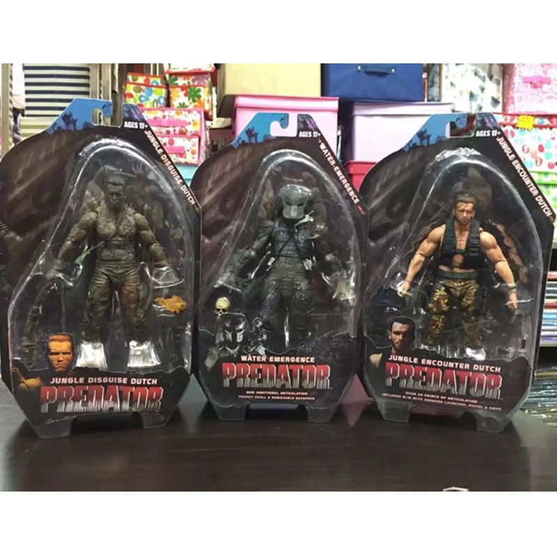 купить Predators 25th Predator Water Emergence Jungle Disguise Encounter Dutcch PVC Action Figure Collectible Model Toy 7 18cm KT1815