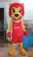 Hot Sale Cartoon Red Lion Mascot Costume Adult Character Costume