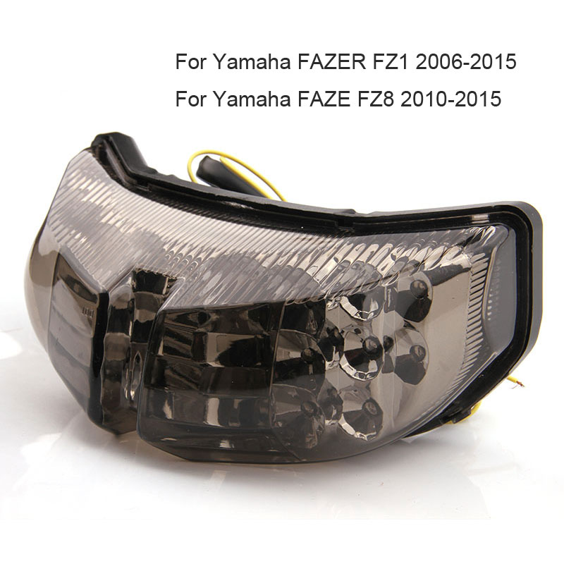 US $22 41 5% OFF|LED Tail Light For Yamaha YZF R6 R1 FAZER FZ1 FZ8 TMAX S30  1200Z Integrated Motorcycle Turn Signal Light Tail Stop Warning Lamp on