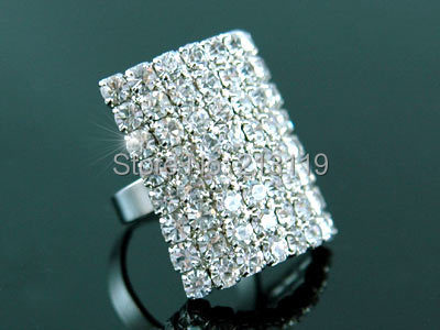Peacock Star Queen Jumbo Party Pageant Ring use Austrian Crystal CSR045