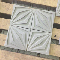 Square geometric pattern cement wall brick silicone mold concrete home decoration handicraft mold TV background wall tile molds