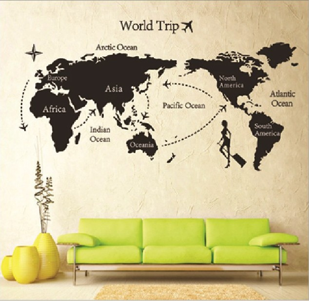 Susie fh wall stickers map of the world banksy vinyl quotes wall susie fh wall stickers map of the world banksy vinyl quotes wall decals for nursery and gumiabroncs Images