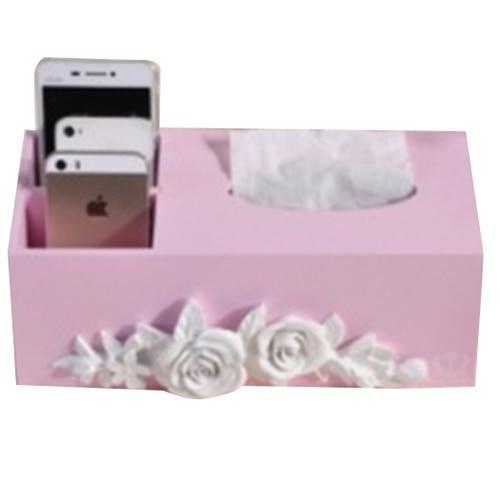 Mizhi 1 деревянный Творческий цветочным узором бумажное полотенце Ящик Журнальный Столик ящик для хранения телефона с упаковкой