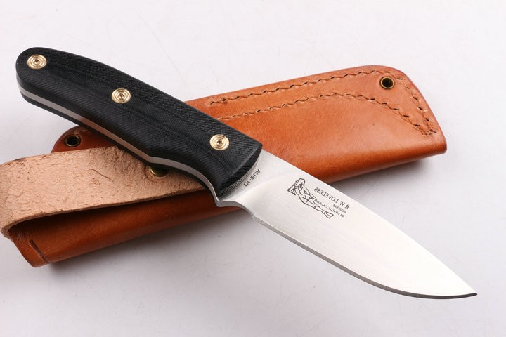 Buy R.W.LOVELESS Camping Fixed Knives,9Cr18Mov Blade G10 Handle Hunting Survival Knife. cheap