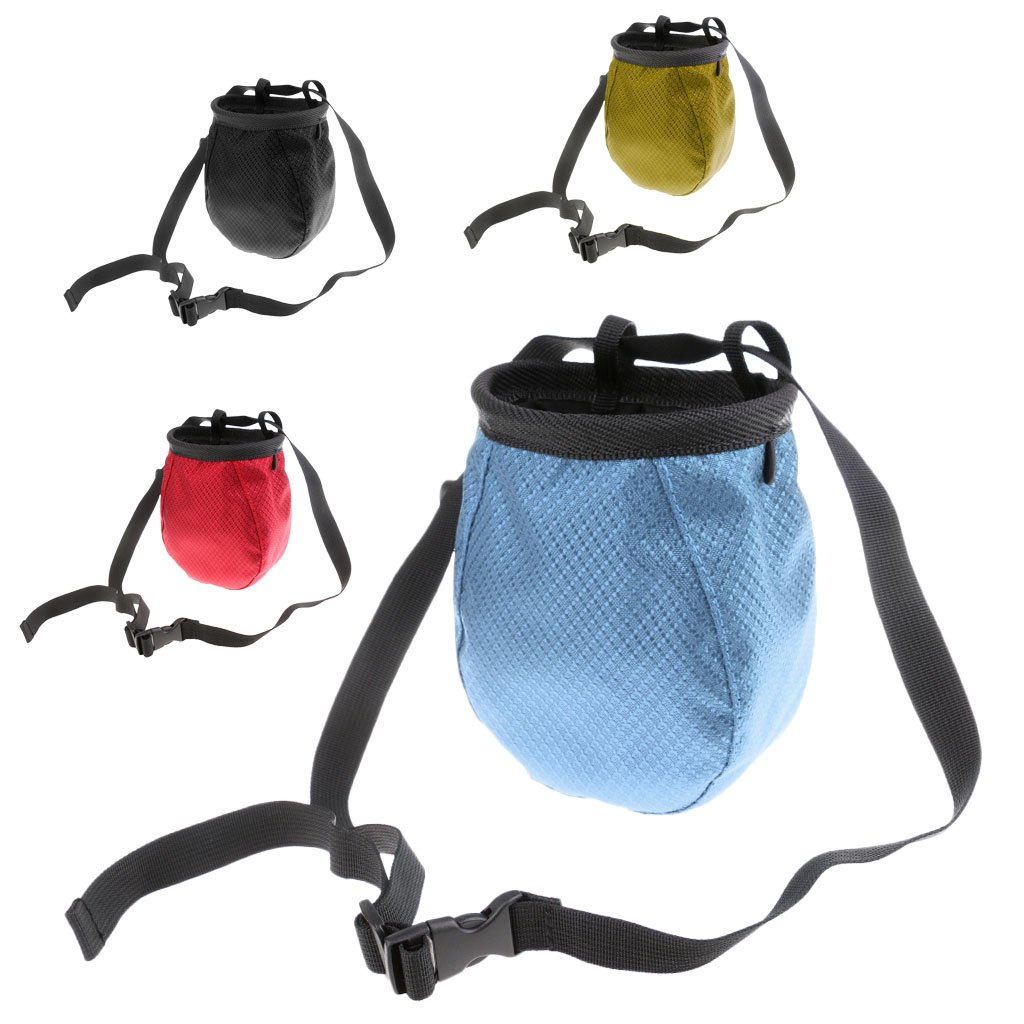 Chalk Bag Pouch For Rock Climbing Bouldering Gymnastics Weightlift With Waist Belt Gymnastics Rock Climbing Kayaking Boating