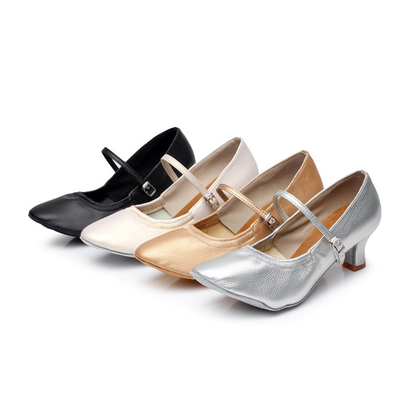 2018 Latin Dance Shoes Women High Heels Ladies Pumps Spring Pointed Toe Mary Jane Career Chunky High Heels Lady Shoe new stylish designer lady high heels shoes pointed toe concise slip on office career shoes woman string metal bead shoe edge