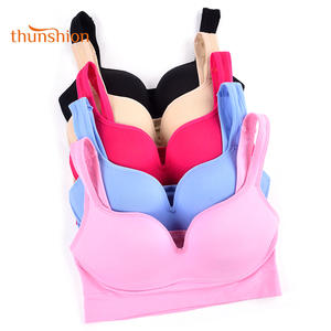 0c2072294 THUNSHION 5 Colors Ladies Padded Push up Sports Bra for Yoga Fitness Daily  Wear Wire Free Bra Seamless Full Cup Solid Bra Top