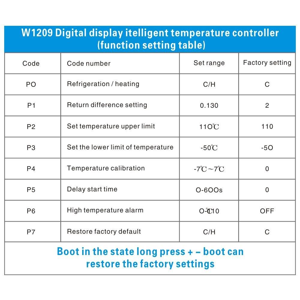 HTB1eD9BKeuSBuNjSsziq6zq8pXaR DC 12V W1209 Digital Cool/Heat Temp Thermostat Thermometer Temperature Controller On/Off Switch -50-110C+W1209 Case Acrylic Box