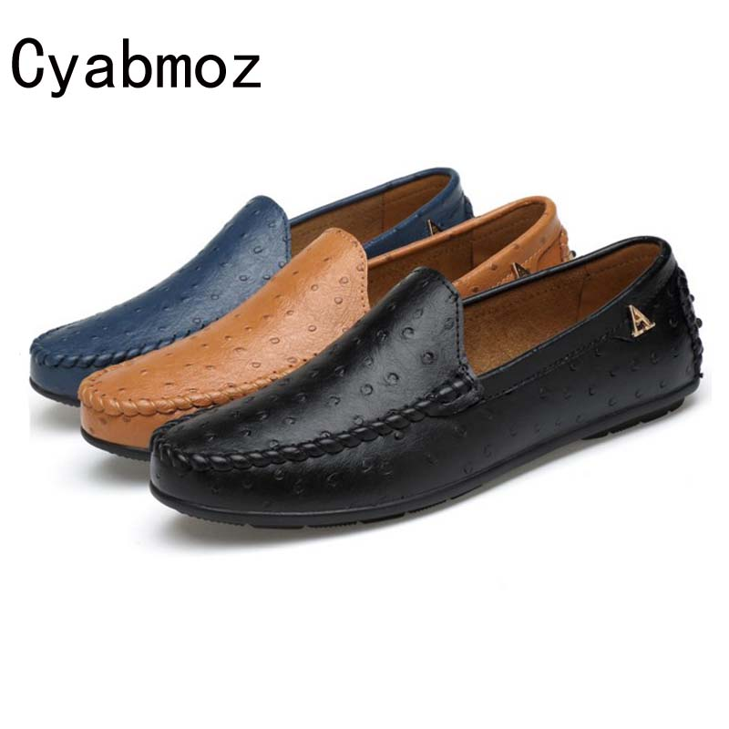 Cyabmoz Men Loafers 2017 Casual Boat Shoes Fashion Leather Slip On Driving Shoes Moccasins Men Flats Leisure Shoe zapatos hombre cyabmoz brand new breathable vintage crocodile pattern genuine leather moccasins men casual shoes loafers flats slip on zapatos