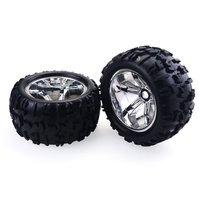 2PCS RC Car Wheel Rim Tires for Redcat Hsp Kyosho Hobao Hongnor Team Losi GM HPI 1/8 Truggy Monster Truck Rubber Tyre 17mm Hex