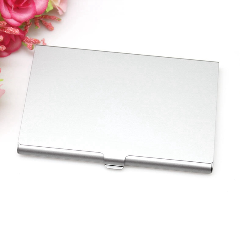 Creative Casual Business Card Case Stainless Steel Aluminum Holder Metal Box Cover Credit Men Business Card Holder Metal Wallet