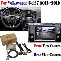 Камера заднего хода для Volkswagen Golf 7 2011 ~ 2019 адаптер подключения оригинальный экран дисплей парковочная камера заднего вида MMI декодер