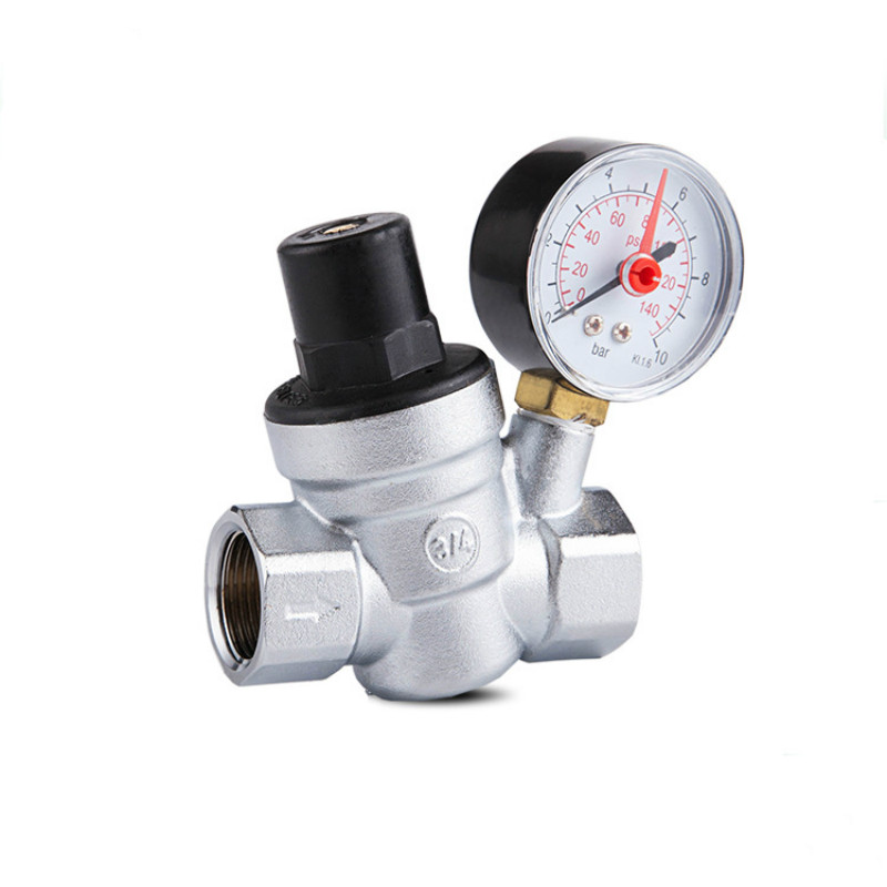 water pressure regulator with Gauge pressure maintaining valve Tap water pressure reducing valve DN20 купить в Москве 2019