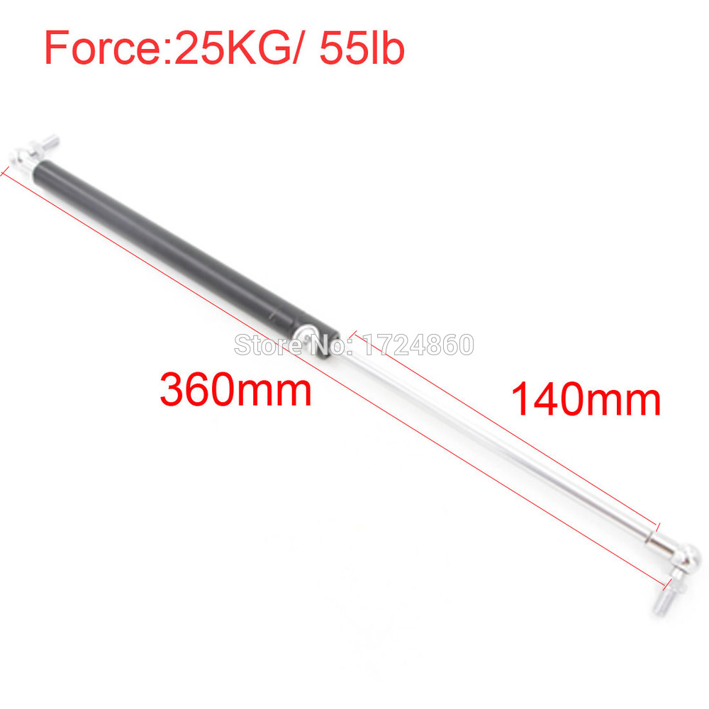 free shipping Auto Gas Spring for Car Lift Damper Support Force 25KG 55lb 140 Stroke 8mm Hole Diameter Widely Used free shipping500mm central distance 200mm stroke 80 to 1000n force pneumatic auto gas spring lift prop gas spring damper