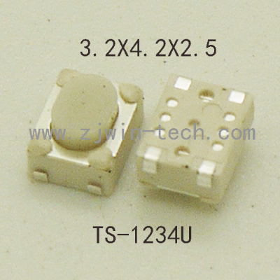 50PCS Micro Push Button 3X4X2.5 4feet (U type) SMT tact switch mounting for car system/Cigarette Tool 50pcs lot 6x6x7mm 4pin g92 tactile tact push button micro switch direct self reset dip top copper free shipping russia