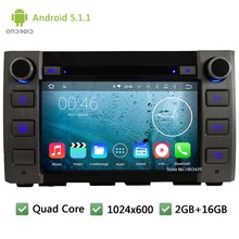 Quad Core WIFI 3G Android 5.1.1 1Din 8″ HD 1024*600 Car DVD Player Radio Screen Stereo PC Audio GPS For Toyota Tundra 2014 2015