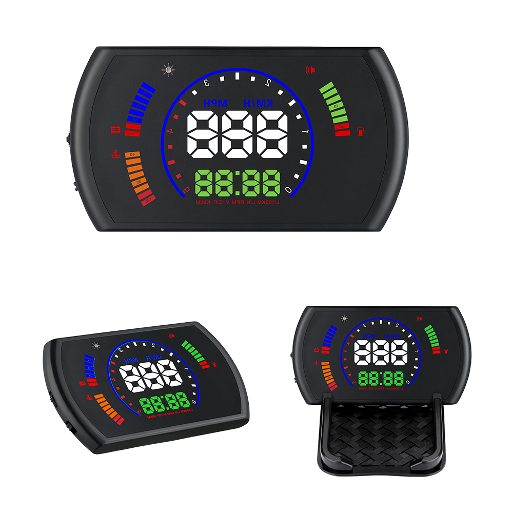 GEYIREN S600 head-up display car hud car speed projector OBD interface HUD speed RPM voltage water temperature Fuel cosumption emoji car display