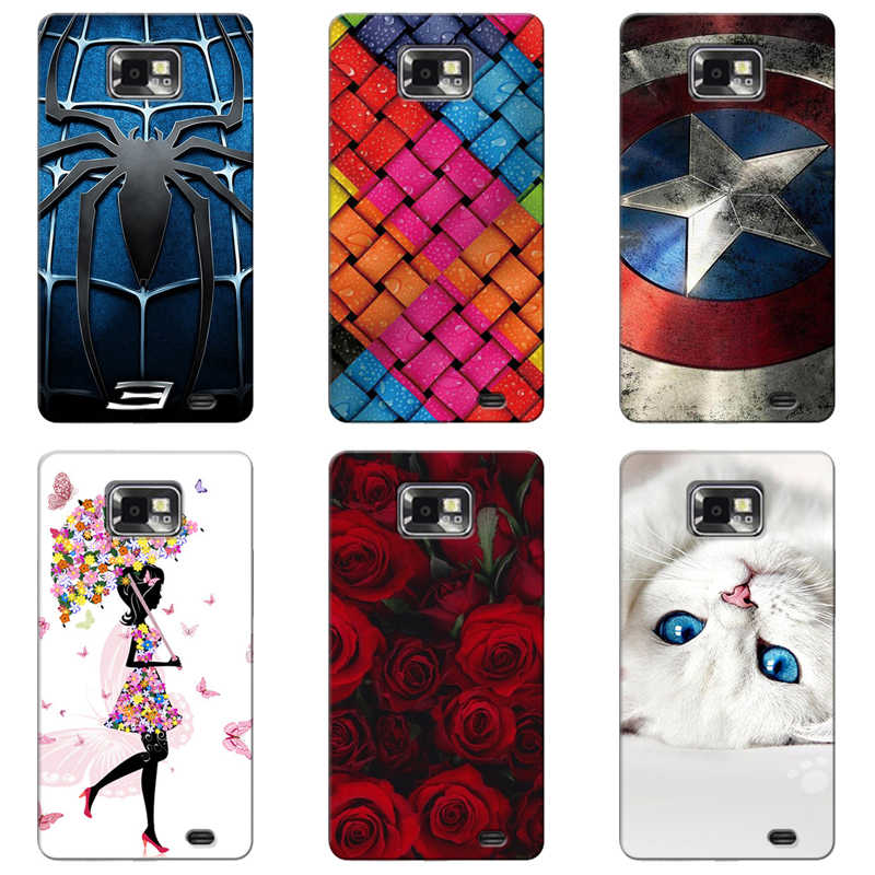 Case Cover for Samsung Galaxy S2 S 2 SII i9100/S2 Plus i9105 Colorful Para Soft TPU Back Covers Animal Cell Phone Cases Coque