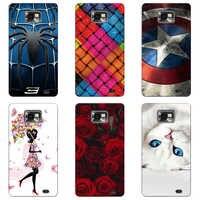 Cubierta de la caja Para Samsung Galaxy S2 S 2 SII i9100/S2 más i9105 colorido Para suave TPU cubre fundas de teléfono móvil Animal Coque