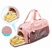 Pink Gym bags For Men Sport Travel Handbag Lightweight Women Yoga Bags With Shoe Compartment Training Sac de Bag