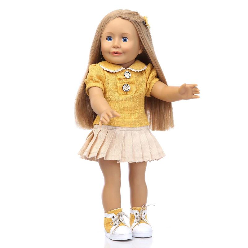 new arrival NPKCOLLETION can stand Amerian Girl Doll reborn baby dolls for girl move eyes long hair silicone baby dolls juguetes