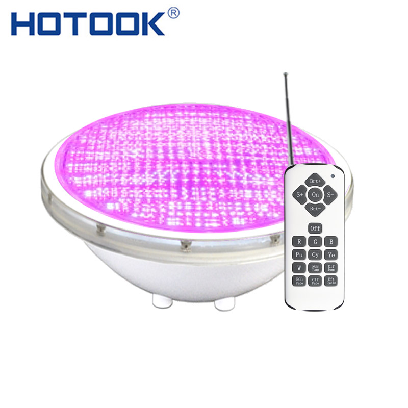 HOTOOK Underwater lights RGB Par56 LED Pool light Waterproof IP68 Inground Swimming Pool Lamp Bulb For Fountain Pond Piscine Kit 54w par56 led rgb pool underwater lights ac 12v led outdoor waterproof ip68 lighting for spa fountain ce rosh 2 years warranty