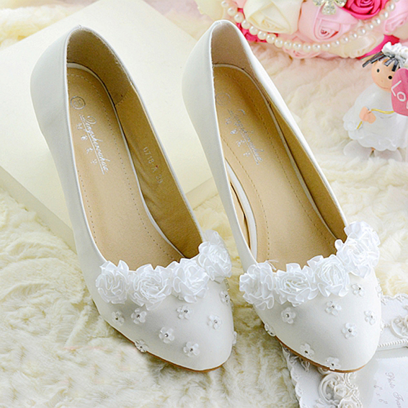 Cheap Wedding Shoes Lace Bridal Dress Shoes Bridesmaid