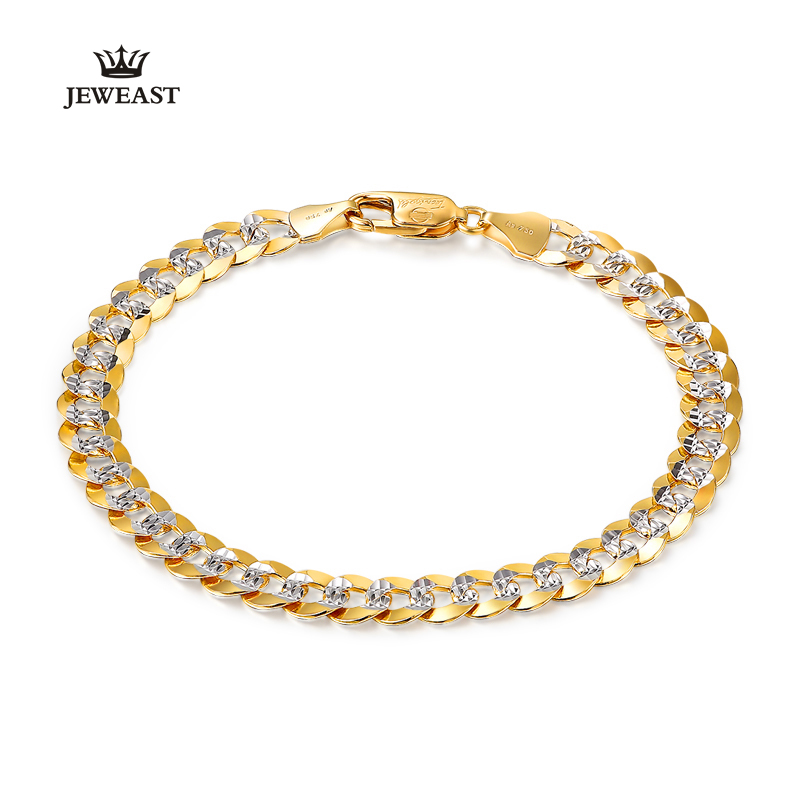 18K Pure Gold Bracelet Real AU 750 Solid Gold Bangle Good Beautiful Upscale Trendy Classic Party Fine Jewelry Hot Sell New 2018