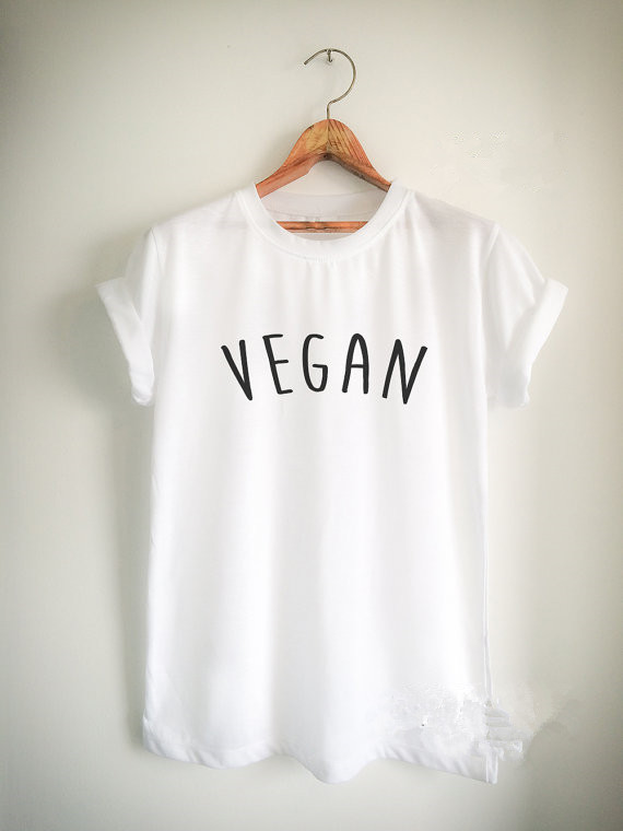 Vegan Unisex women mens t shirt high quality girls tops Tumblr casual tees t shirt vegan tops tees tumblr t shirt 23