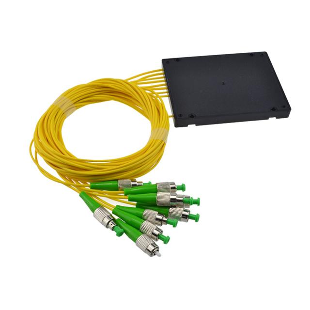 Fcapc 1 X 8 PLC de fibra monomodo divisor óptico FTTH PLC ABS tipo FC FBT PLC divisor de fibra óptica FC conector envío gratis