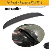 Углеродного волокна задний спойлер багажника для Porsche Panamera 2014 2016 O Стиль загрузки губ крыла Спойлер Тюнинг автомобилей Запчасти