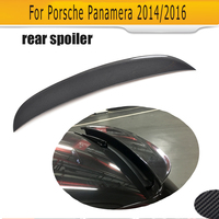 Carbon fiber Rear Trunk Spoiler for Porsche Panamera 2014 2016 O Style Boot lip wing Spoiler Car Tuning Parts