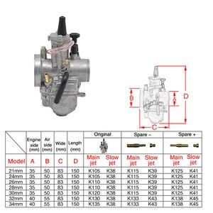 Image 3 - ZS MOTOS Motorcycle 2T Engine PWK Carburetor  2 T engine 21 24 26 28 30 32 34mm Carburador For Honda Yamaha Racing Motor ATV