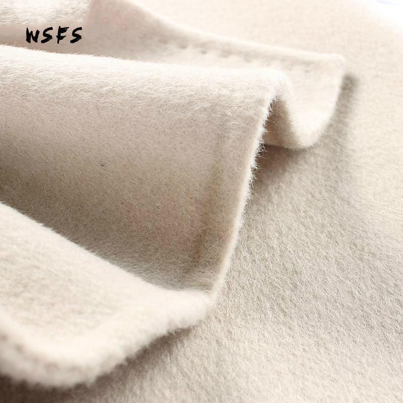 Bouble Couverture Manteaux Manches Dame Laine Élégante De Tranchée Poitrine Mouton Manteau Picture See Beige Bureau Hiver 100 À Femmes Longues BCw1PSqOx