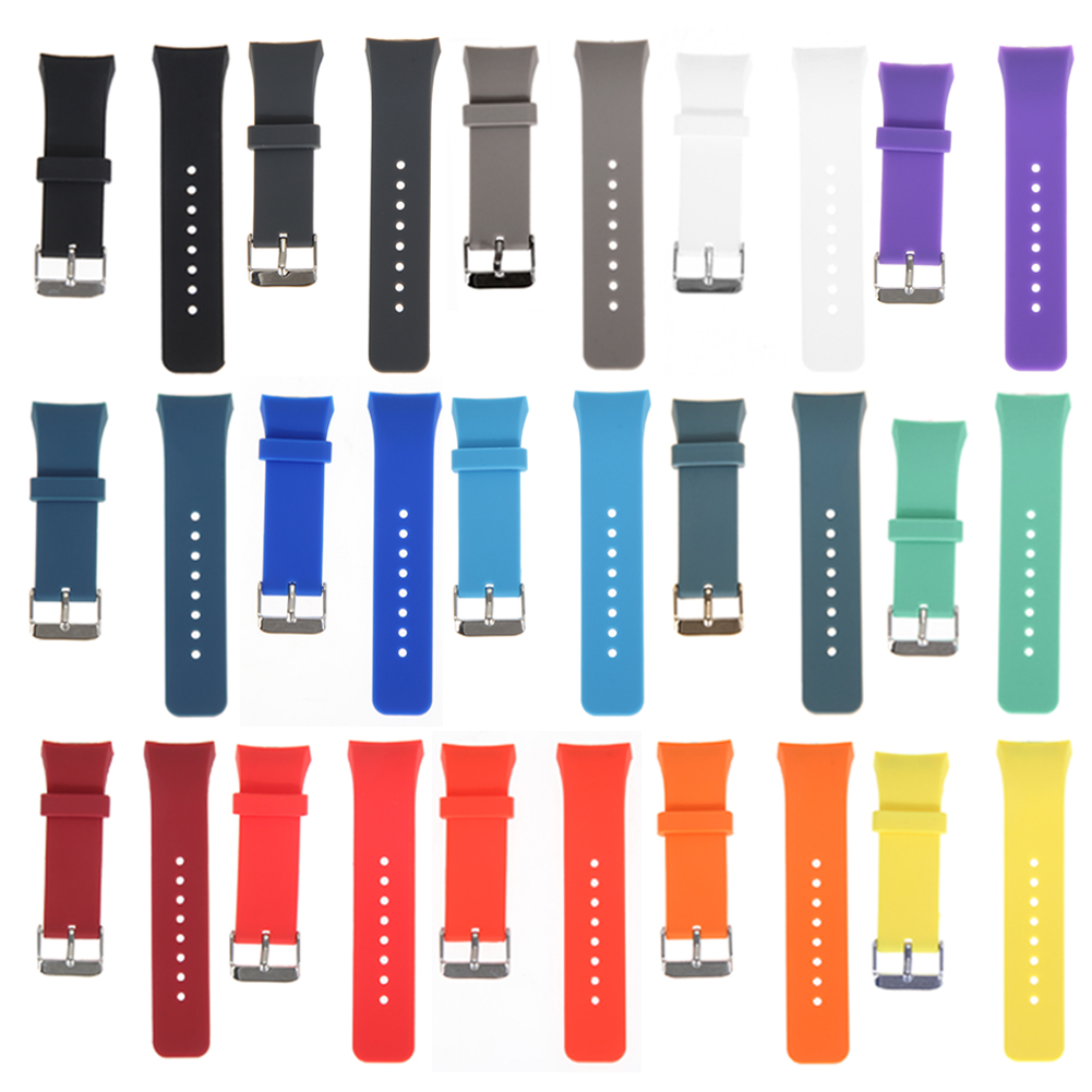 Silicone Watchband 18-20mm Watch Strap Replacement Durable Watchaband Strap Watch Accessories For Samsung Galaxy Gear S2 SM-R720 image