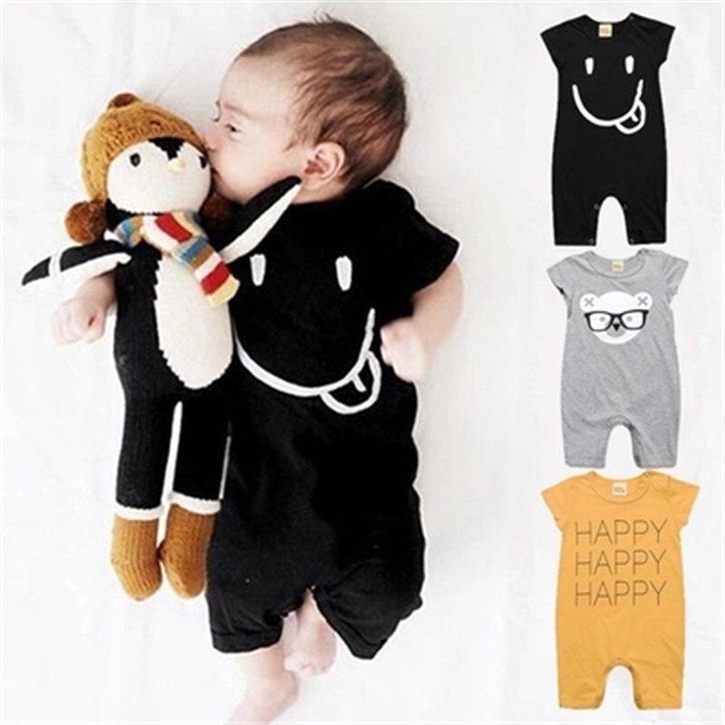 Verano mamelucos de bebé de algodón ropa de bebé niñas ropa de bebé niño ropa de bebé recién nacido ropa Bebe infantil monos de manga corta