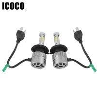 LED 12V Car LED Headlights 2Pcs 72W 8000LM COB LED Headlight Head Lamp Fog Light Auto