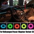 9 М Набор EL Провода/Для Volkswagen Passat B6 B7 B8/Magotan/Variant/CC/Гибкий Неон Холодный Свет/Консоли Декоративные газа