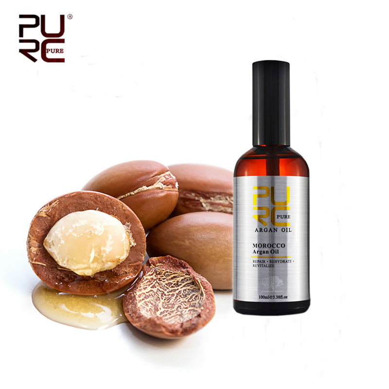 PURC Moroccan Argan Oil 100ml for Repairs Damage Hair Moisturizing Hair nourishing for after Keratin Treatment Hair Oil 1