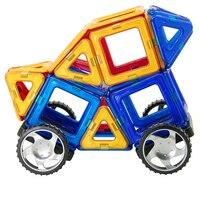 36 개 자기 건설 빌딩 블록 장난감 DIY 3D Magformers 자기 디자이너 교육 벽돌